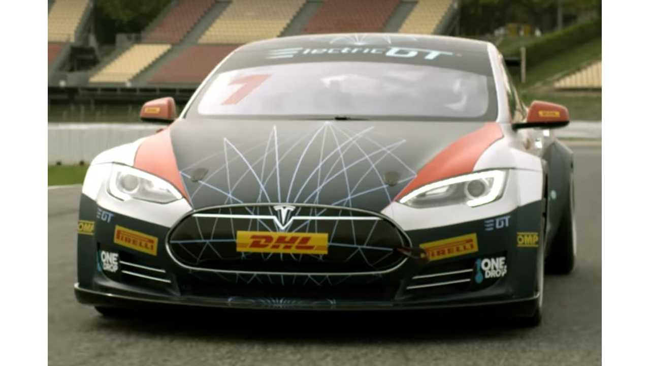 Race-ready Tesla Model S, Prepped for the Upcoming Electric GT