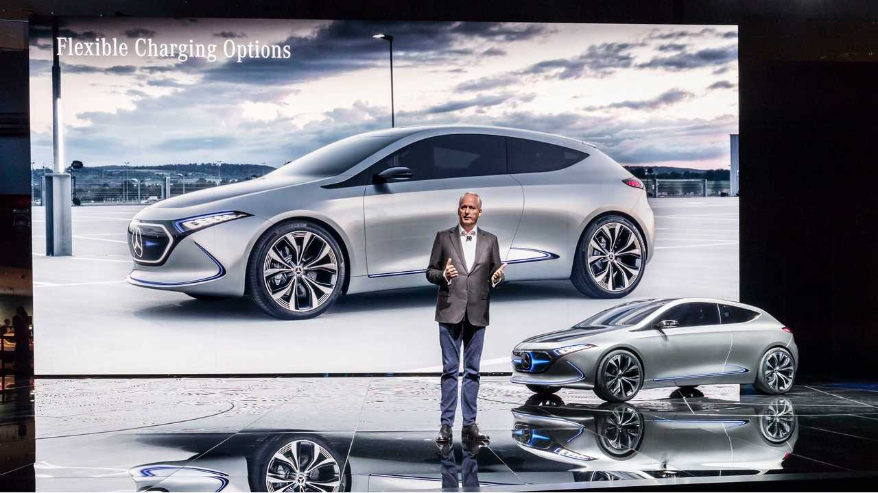 Mercedes-Benz EQA Concept Hits The Stage - Photos & Videos