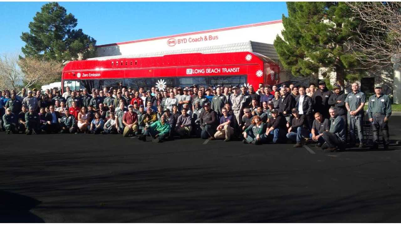 BYD Coach and Bus unveils north america's largest electric bus factory with bipartisan group of senior officials