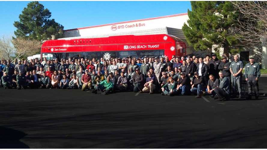 After Just 12 Months, BYD Completes Largest US Electric Bus & Truck Assembly Plant - Video
