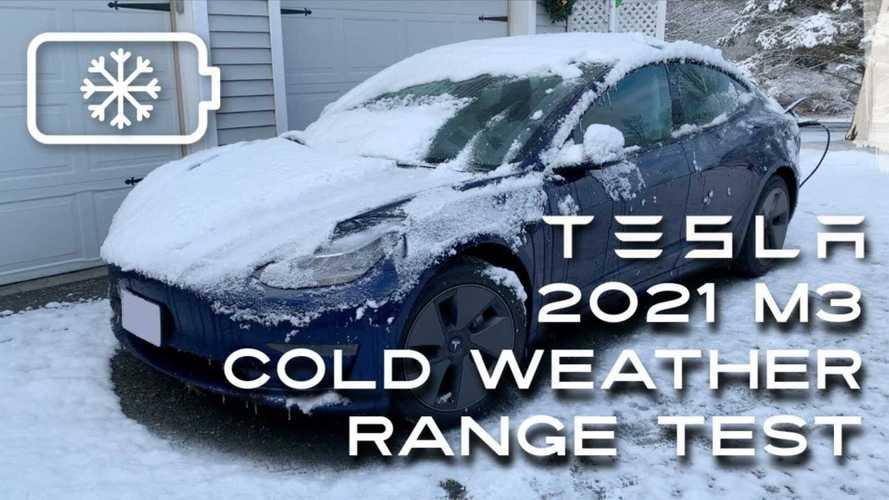 2021 Tesla Model 3 Standard Range Plus Cold Weather Range Test