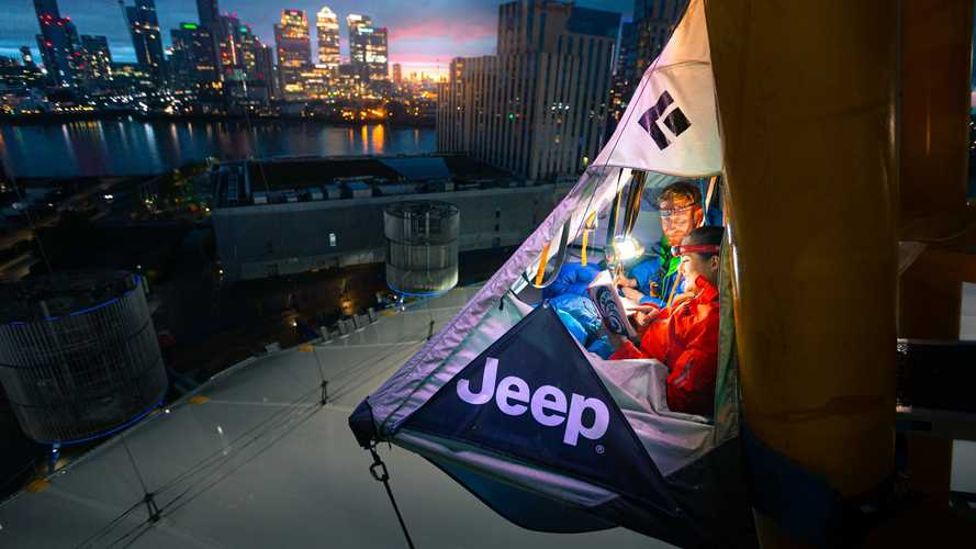 Jeep creates Renegade Motel suspended almost 250ft above ground