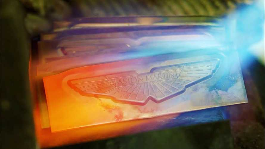 Watch Aston Martin badge forged in fire for special DBX