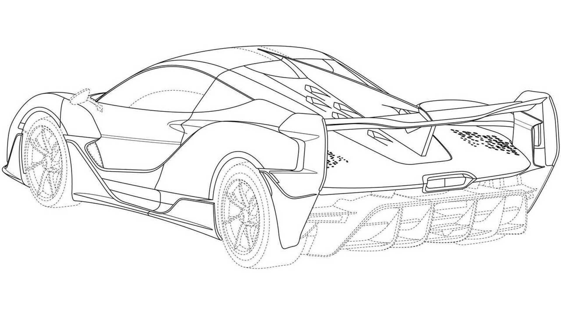McLaren Ultimate Series Design Trademark Rear Three Quarters