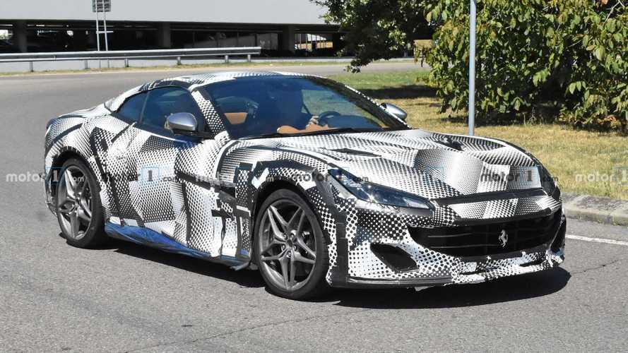 Makyajlı Ferrari Portofino casus fotoğraf