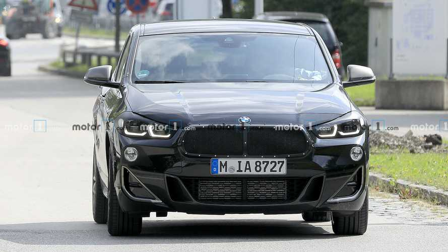 BMW X2 facelift spied again seemingly without camouflage