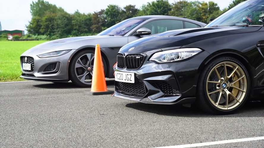 BMW M2 CS drag races Jaguar F-Type in manual-versus-auto showdown