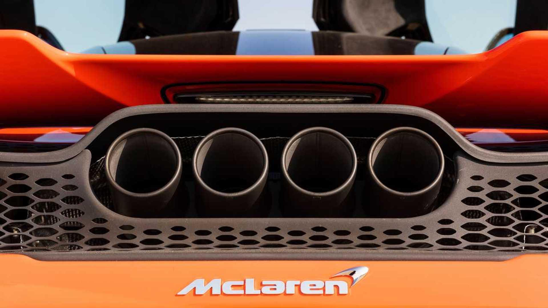 2021 McLaren 765LT four exhaust