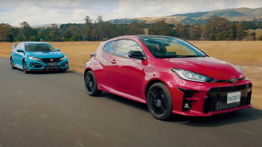 Here's another Toyota GR Yaris vs Honda Civic Type R drag race