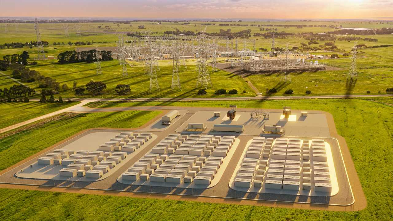 Tesla Megapacks at Neoen's Victorian Big Battery in Geelong, Australia - visualisation