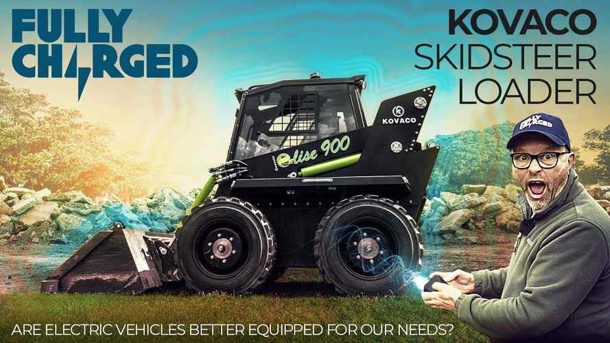 Watch first electric skid steer loader in action on Fully Charged