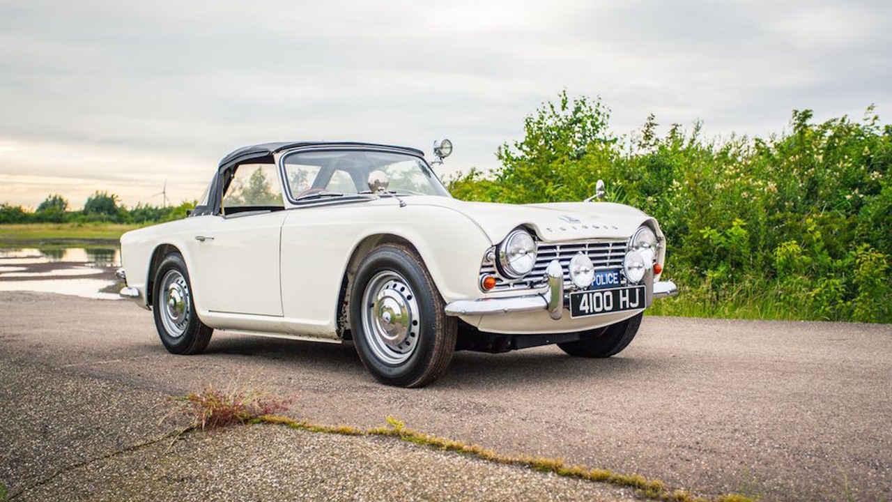 Ferrari Oil Change >> Only surviving 1962 Triumph TR4 Police Cruiser for sale