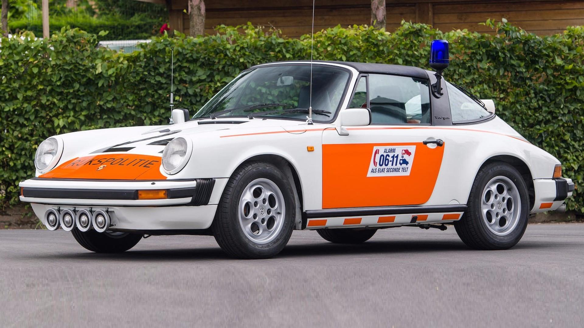 1989 Porsche 911 Targa Dutch police car up for auction