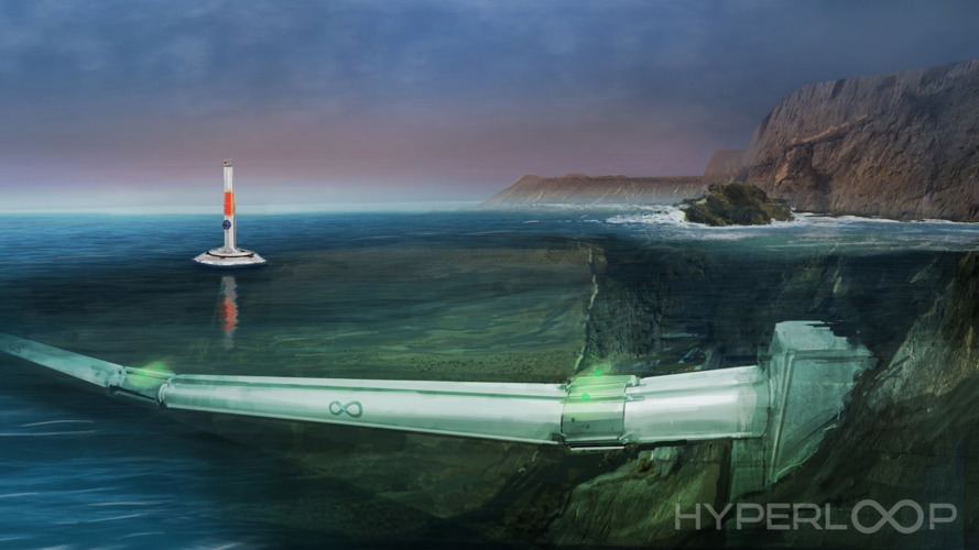 Hyperloop One proposes underwater cargo transport