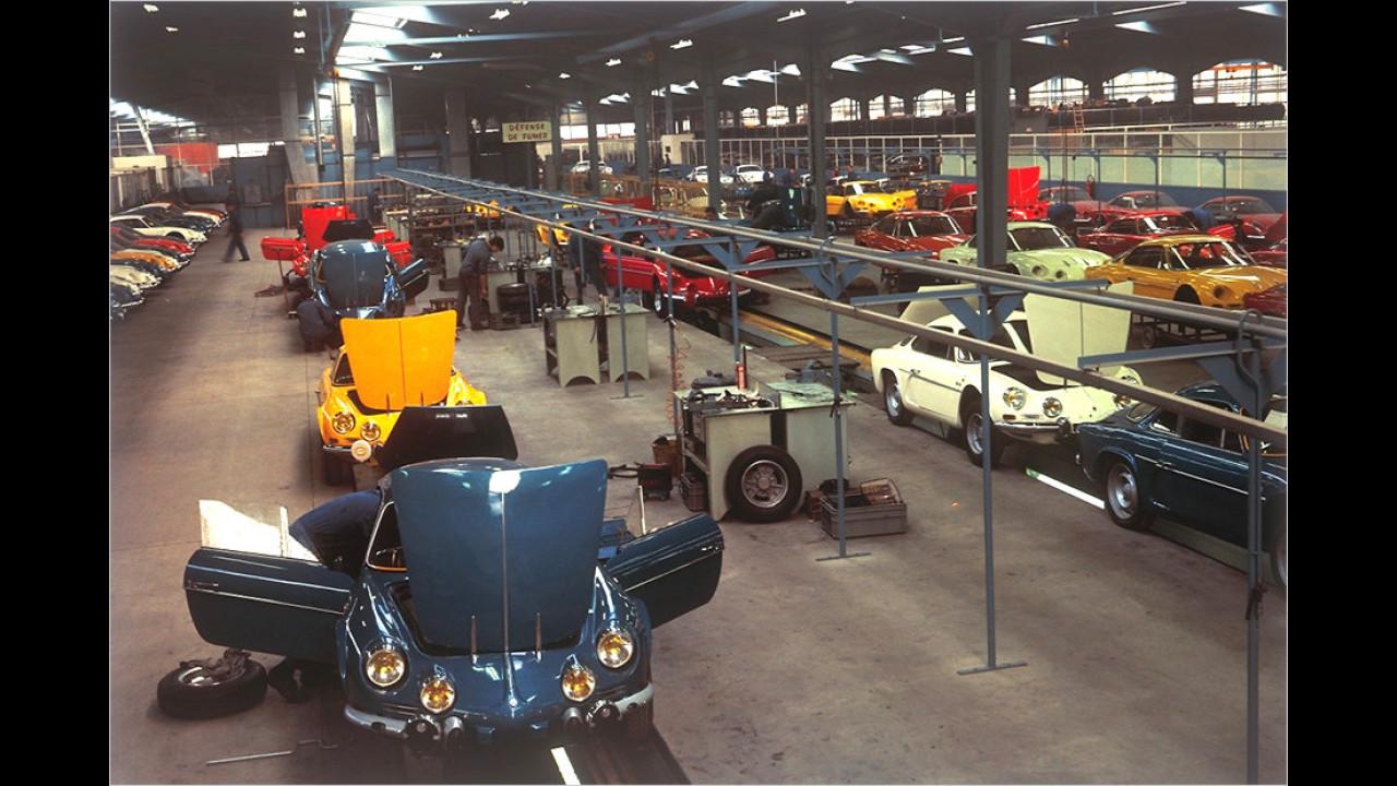 Die A110-Produktion in Dieppe