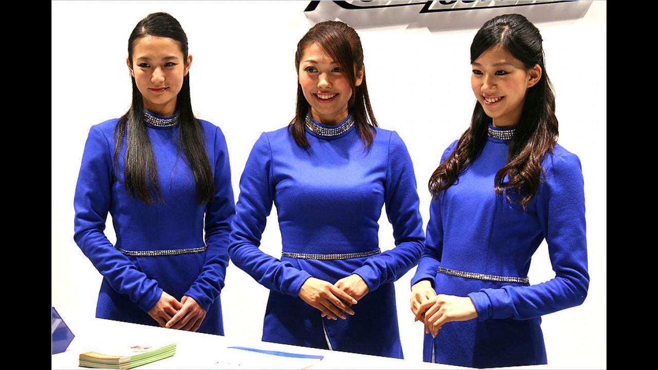 Blau scheint in Japan eine beliebte Farbe zu sein. Zu Recht: Das flimmert nicht so vor den Augen, da kann Mann länger hinschauen