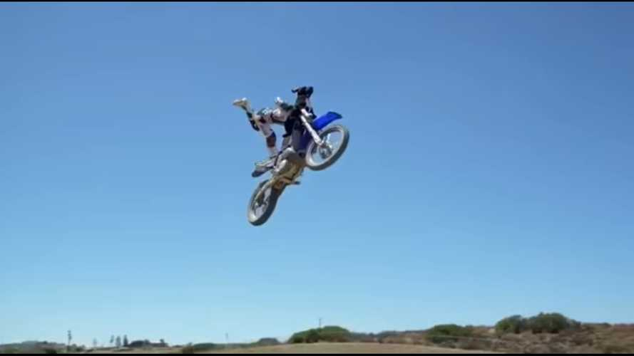 Motocrosser posts hilarious stunt video with dog; peak internet ensues