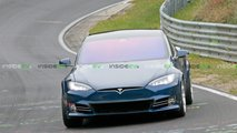 Blue Tesla Model S P100D+ Plaid Nurburgring