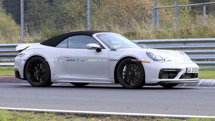 Porsche 911 GTS Cabriolet spied speeding around the Nürburgring