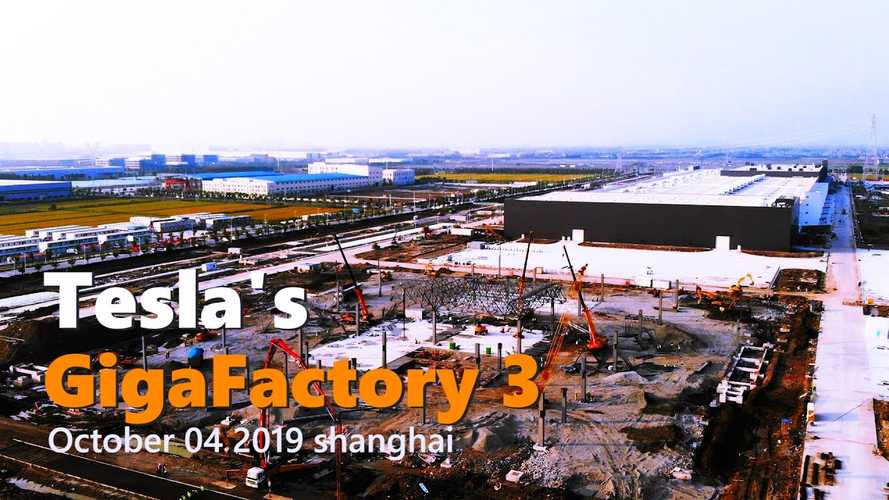 Tesla Gigafactory 3 Construction Progress October 4, 2019: Video