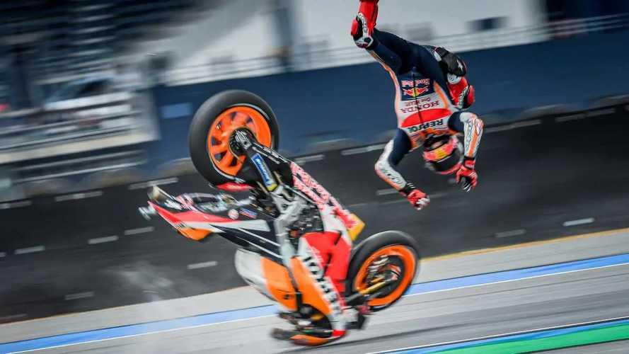 MotoGP: Marquez sofre acidente impressionante e vai parar no hospital