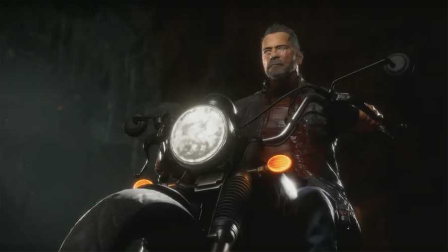 Mortal Kombat's Terminator Uses Sweet Motorcycle Fatality Move