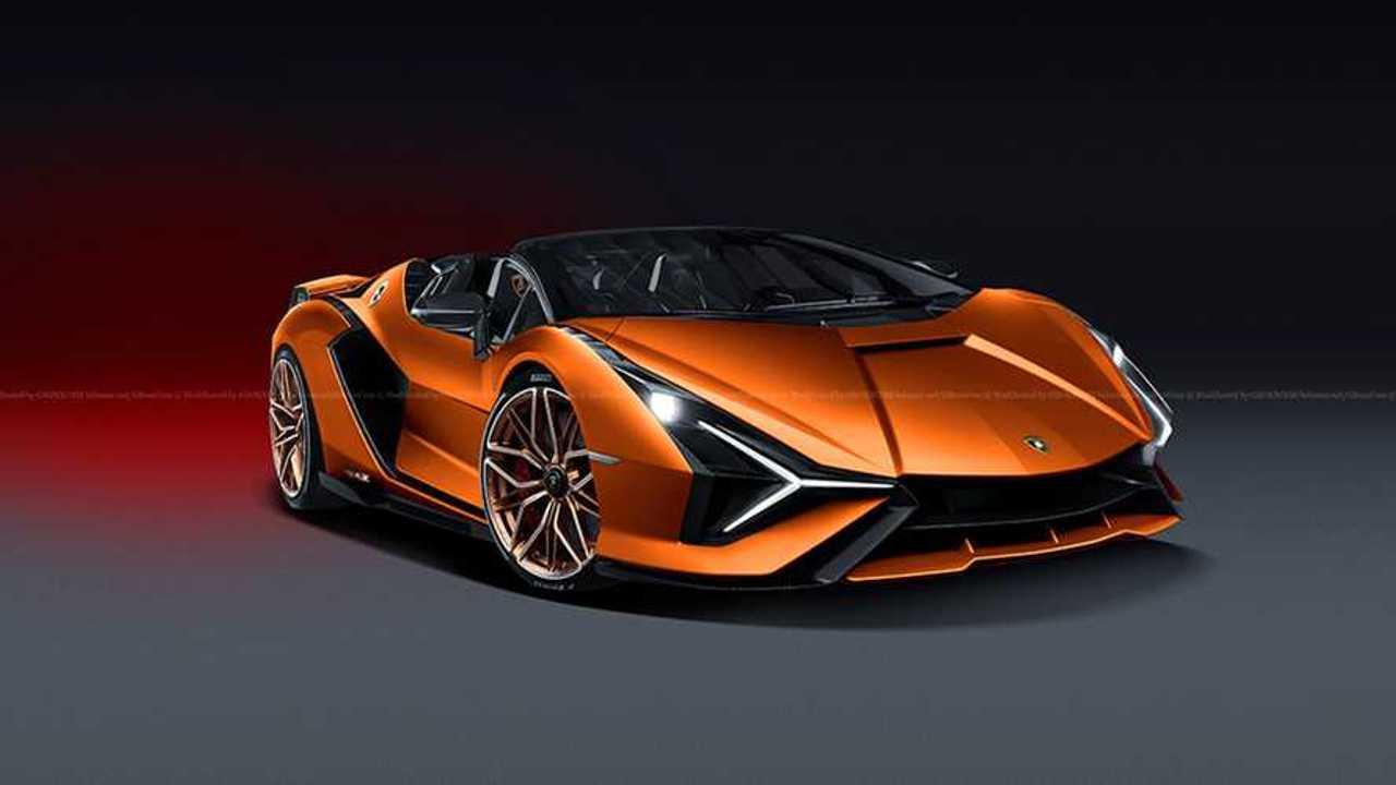 Lamborghini Sian Roadster Rendering