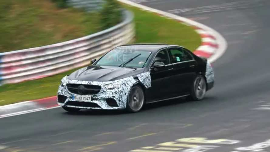 Refreshed Mercedes-AMG E63 Saloon, Estate spied lapping the Nürburgring