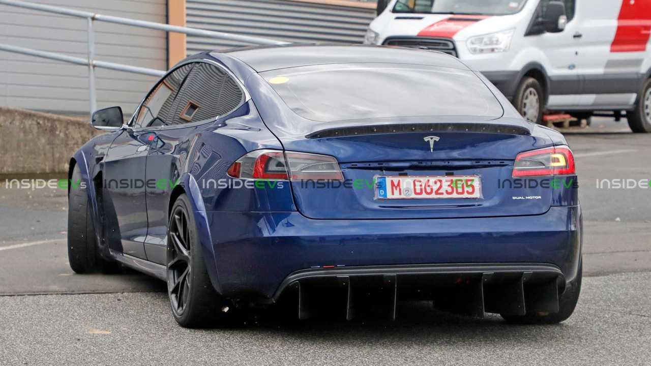 Nouvelles Images de Tesla Model S Plaid