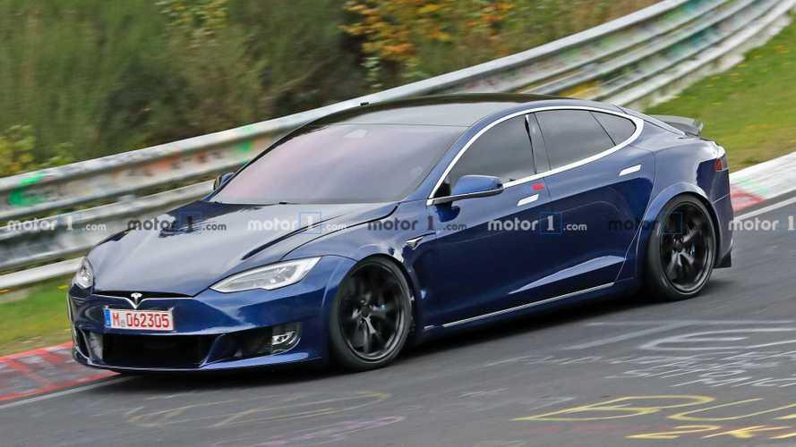 El Tesla Model S fue visto nuevamente en el Nurburgring