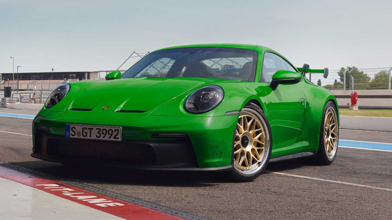 2022 Porsche 911 GT3 With HRE Forged Monoblock Rims (red)