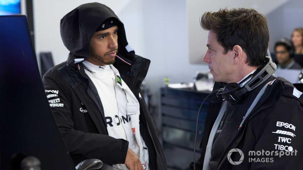 Lewis Hamilton with Toto Wolff at US GP 2019