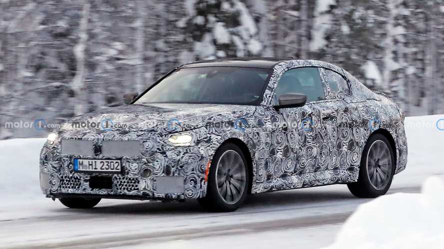 2022 BMW 2 Series Coupe spied spending time in winter wonderland