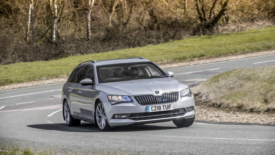 Armored Skoda Superb wagon