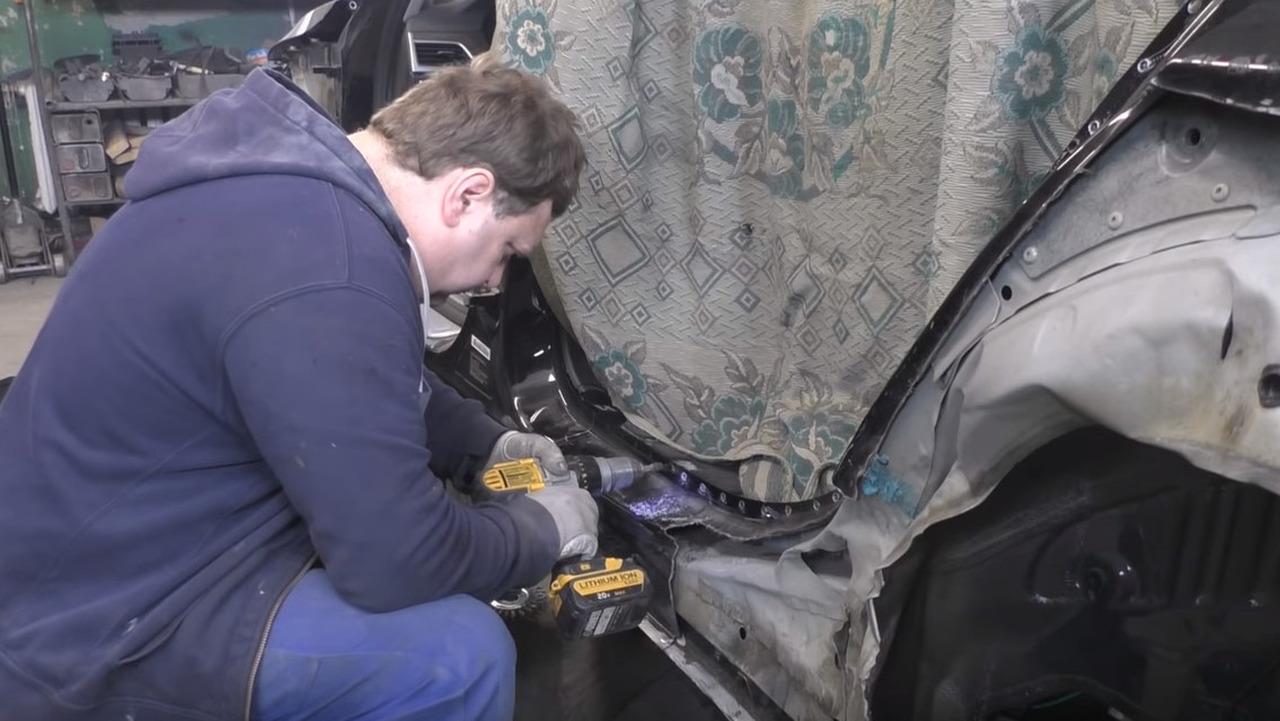 BMW 7 Series body repair