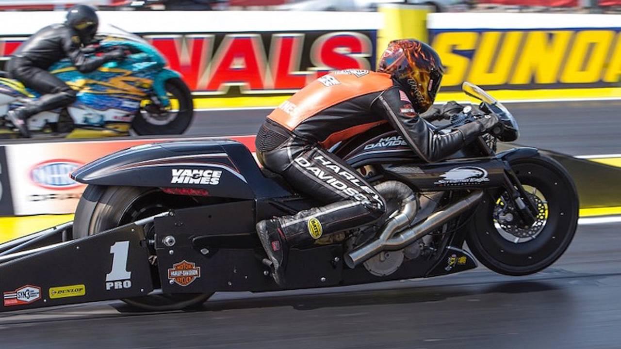 Hines/Harley Take NHRA National
