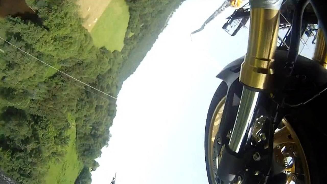 Watch a Honda Hornet bungee jump