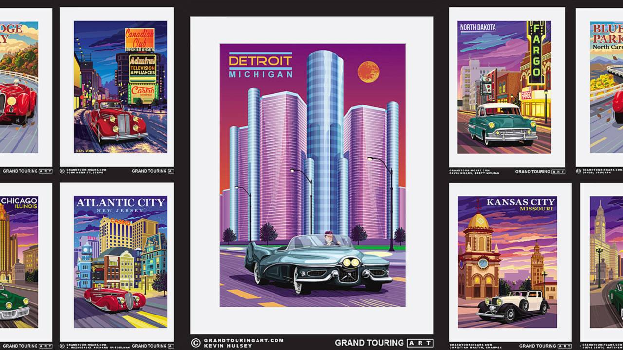 The American Dream Roadside America Prints by Grand Touring Art