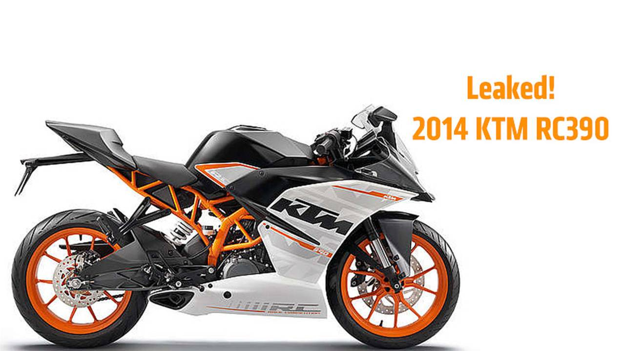 Leaked Online: 2014 KTM RC390 — First Photos and Details