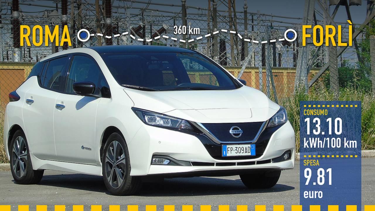 Nuova Nissan Leaf, la prova consumi