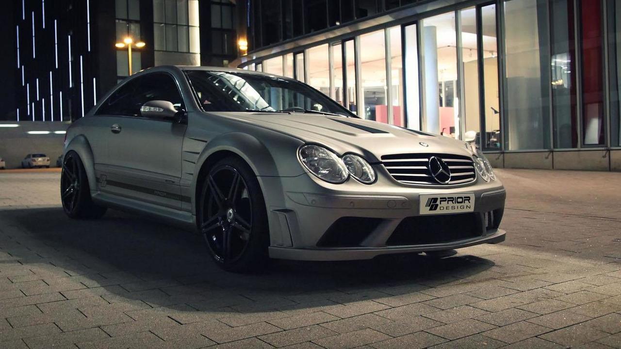 Mercedes CLK with Prior Design Black Series body kit 13.2.2013