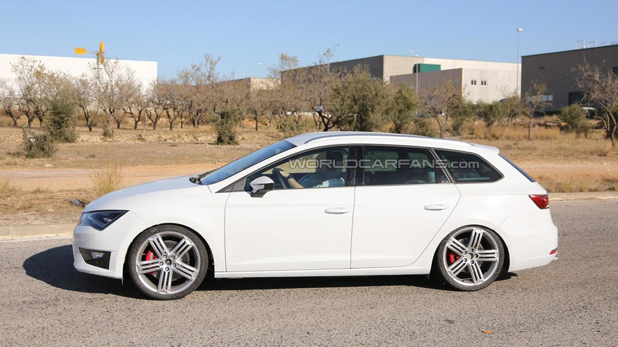 Spy photos show Seat plans Cupra version of Leon ST