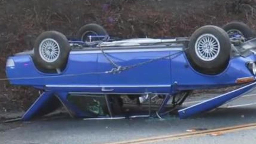 17-year old driver crashes father's beautifully restored BMW 2002 [video]