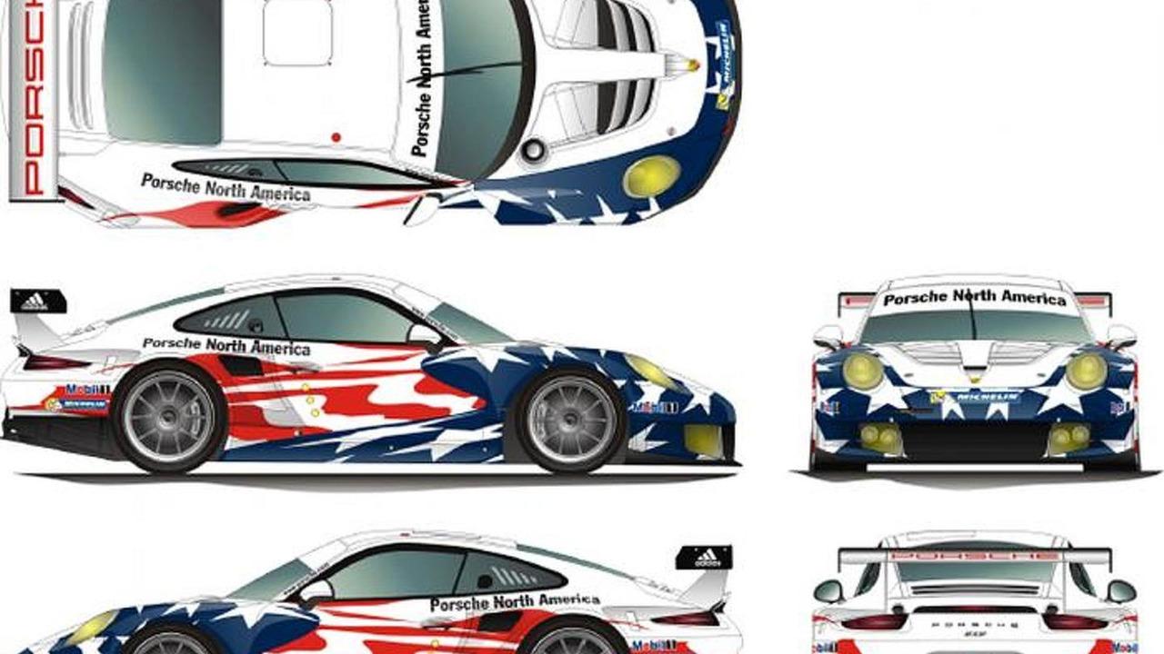 Porsche 911 RSR in Porsche North America livery for the U.S. Tudor United SportsCar Championship