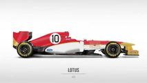 Retro liveries rendered on 2013 Formula 1 cars 22.10.2013