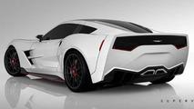 Supervettes SV8.R C7 aero kit for Chevrolet Corvette C6
