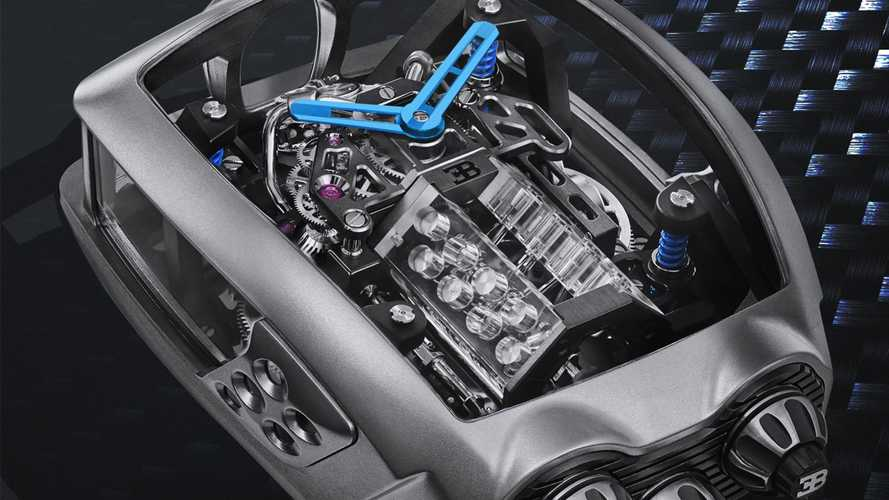 This $280,000 Bugatti Watch Has A Tiny, Working W16 Engine Inside
