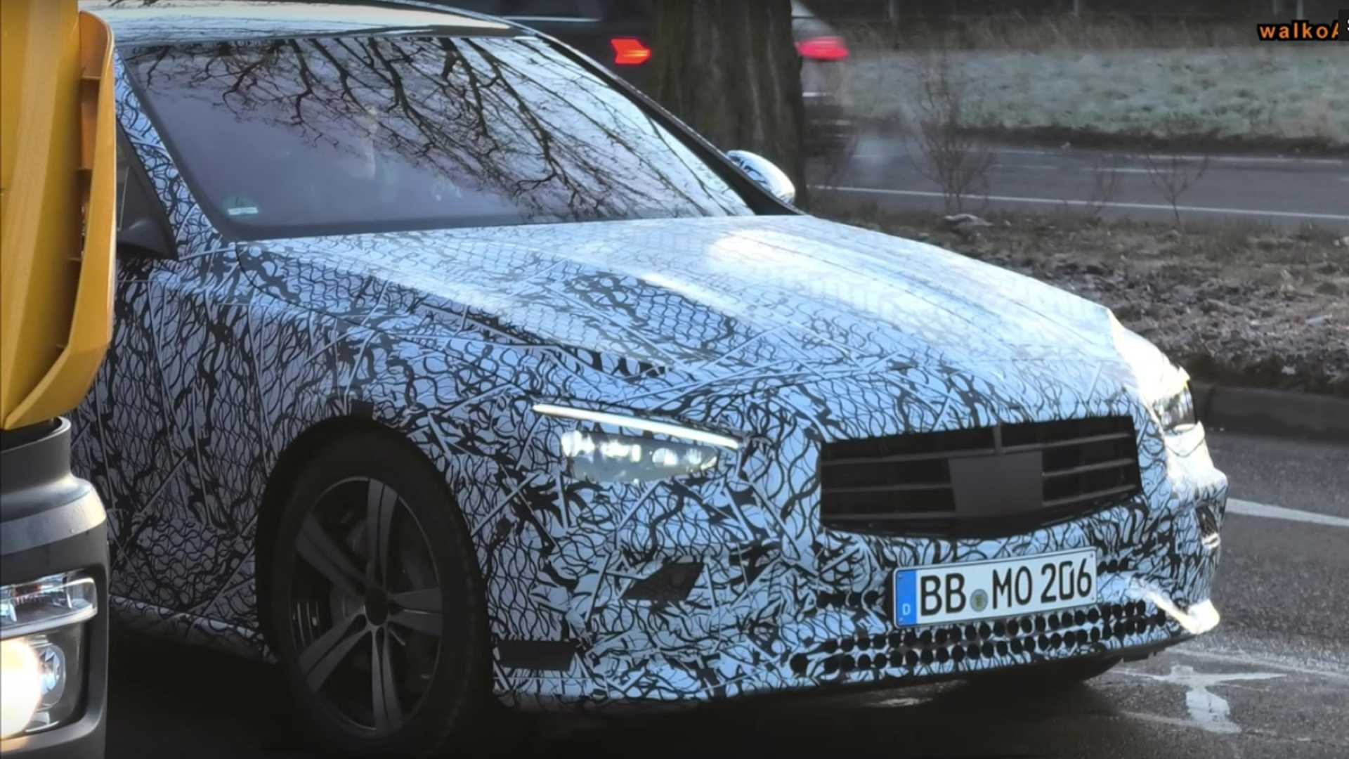 New Mercedes C-Class Caught With Less Camouflage