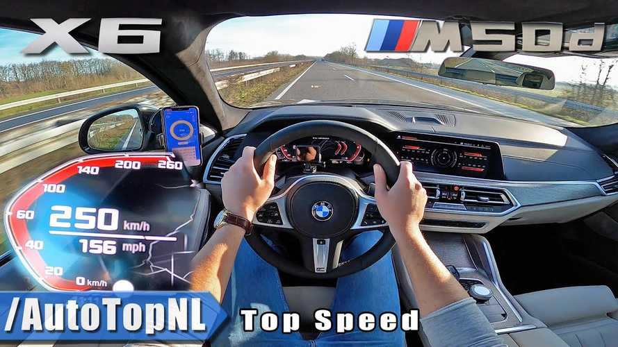 BMW X6 M50d Brings Four Turbos To The Autobahn For Top Speed Test