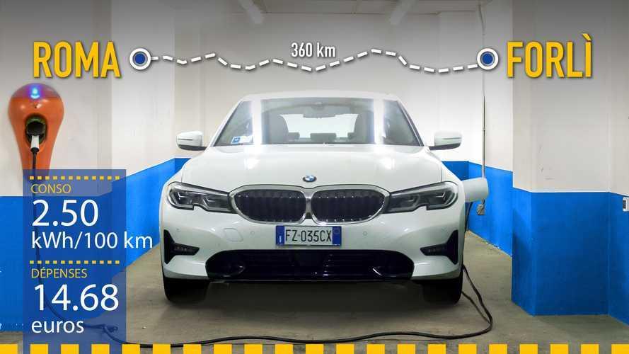 BMW Série 3 hybride rechargeable, le test de consommation réelle